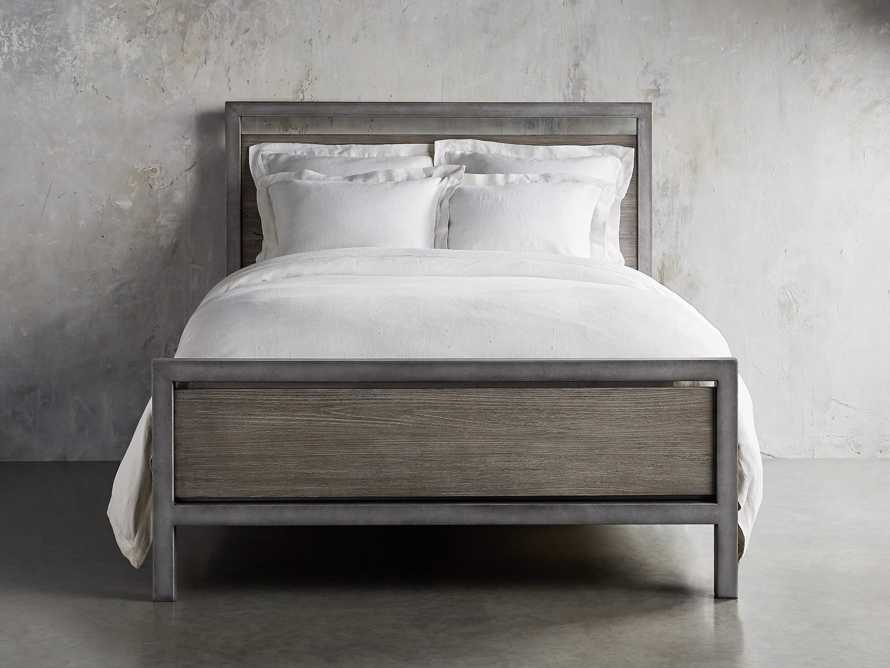 Palmer Queen Bed in Stone on Ash, slide 2 of 6