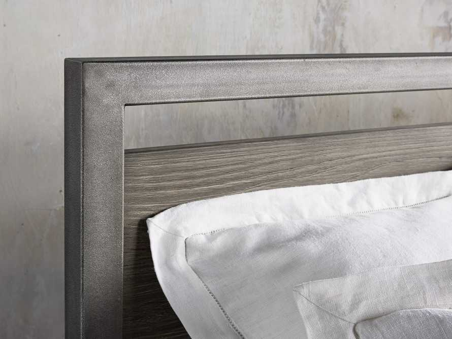 Palmer Queen Bed in Stone on Ash, slide 4 of 6