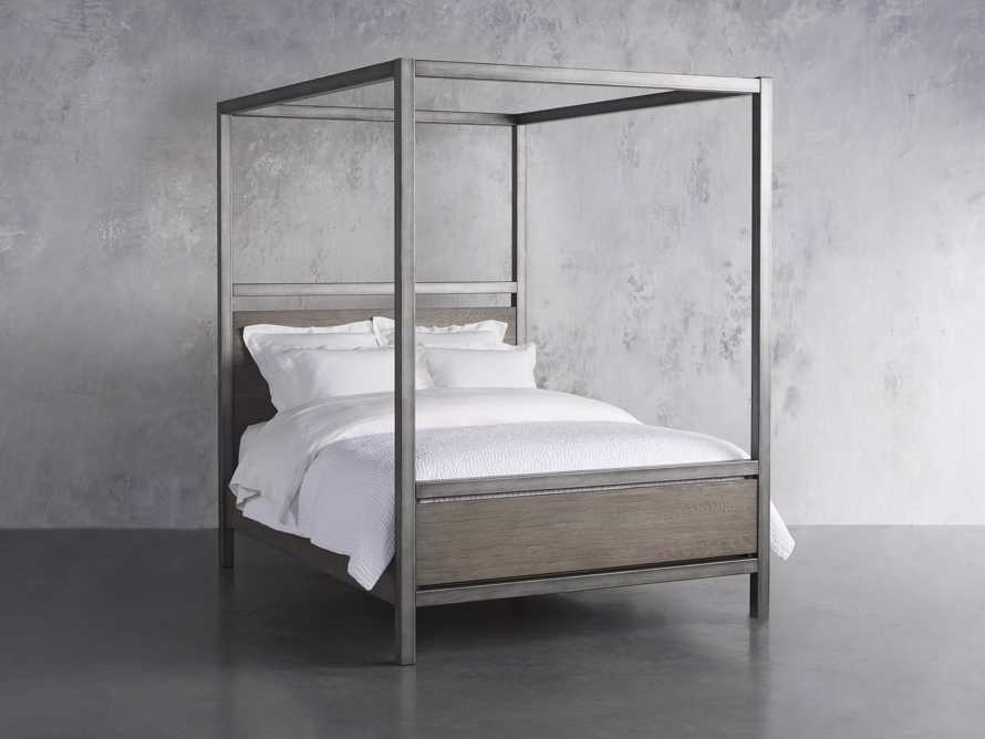 """Palmer 87"""" Canopy Queen Bed in Stone on Ash, slide 2 of 7"""