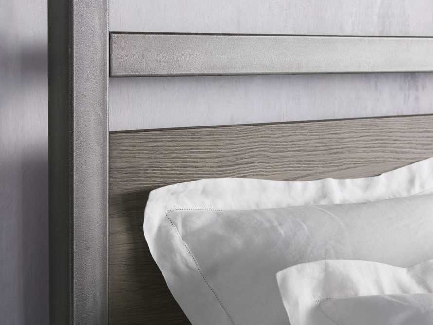 """Palmer 87"""" Canopy Queen Bed in Stone on Ash, slide 5 of 7"""