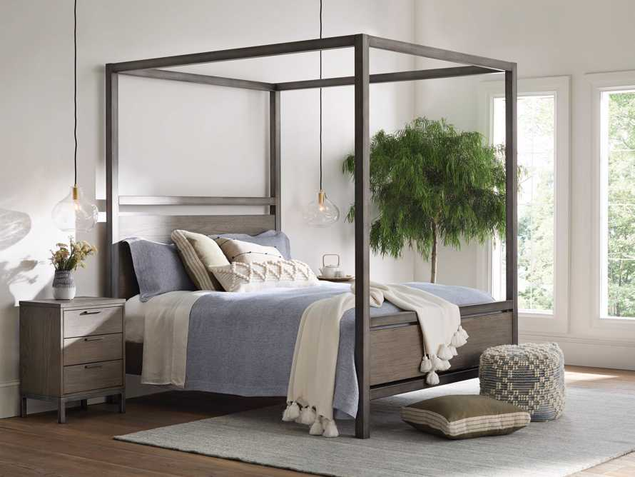 """Palmer 87"""" Canopy Queen Bed in Stone on Ash, slide 1 of 7"""