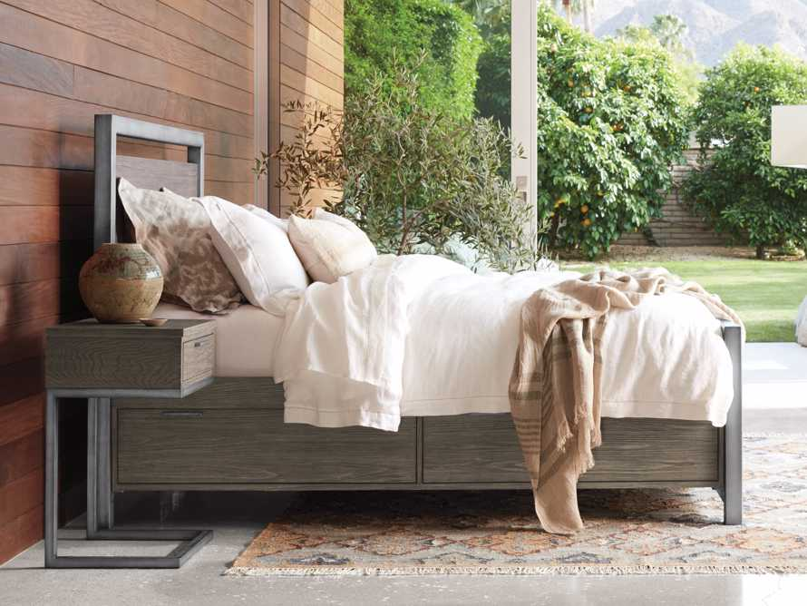 Palmer Queen Storage Bed in Stone on Ash, slide 9 of 10
