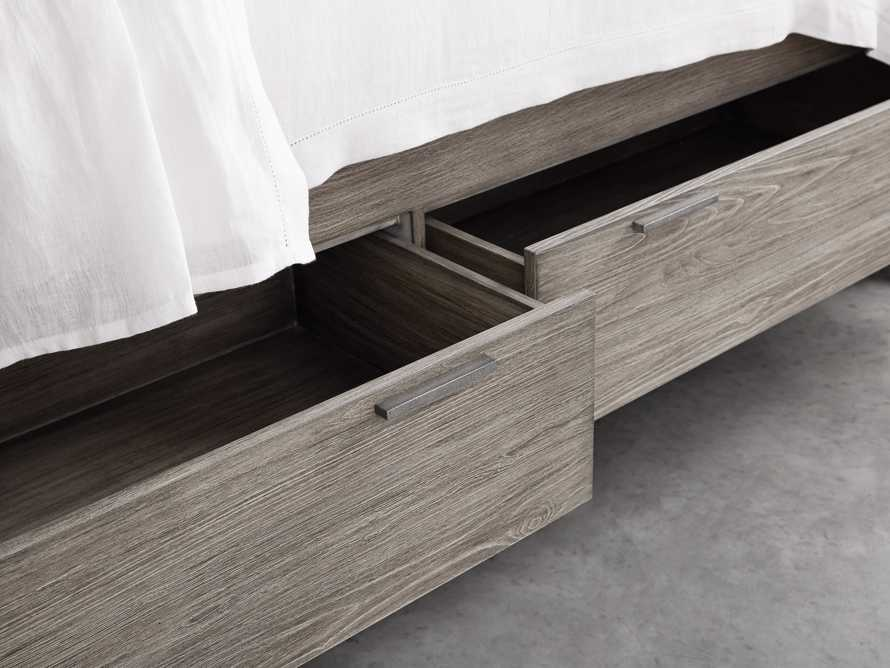 Palmer Queen Storage Bed in Stone on Ash, slide 6 of 10
