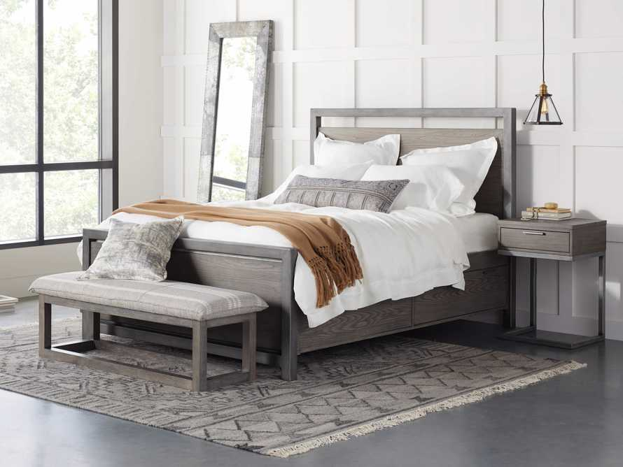 Palmer Queen Storage Bed in Stone on Ash, slide 1 of 10