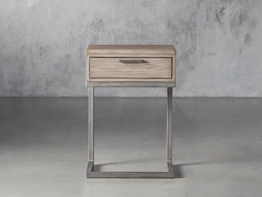 Palmer Storage Nightstand in Stone on Ash, slide 2 of 9