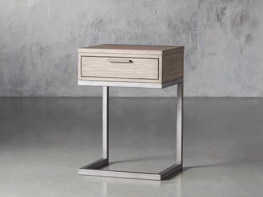 Palmer Storage Nightstand in Stone on Ash, slide 3 of 9