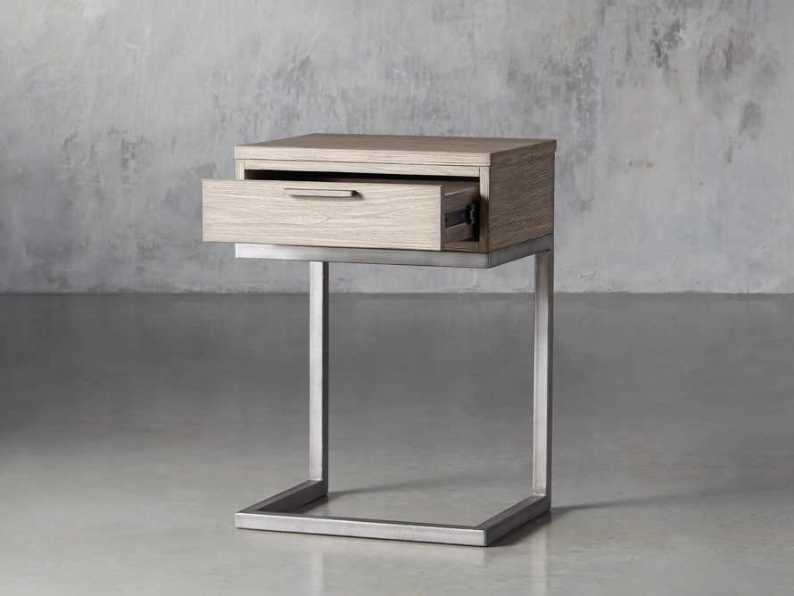 Palmer Storage Nightstand in Stone on Ash, slide 4 of 9