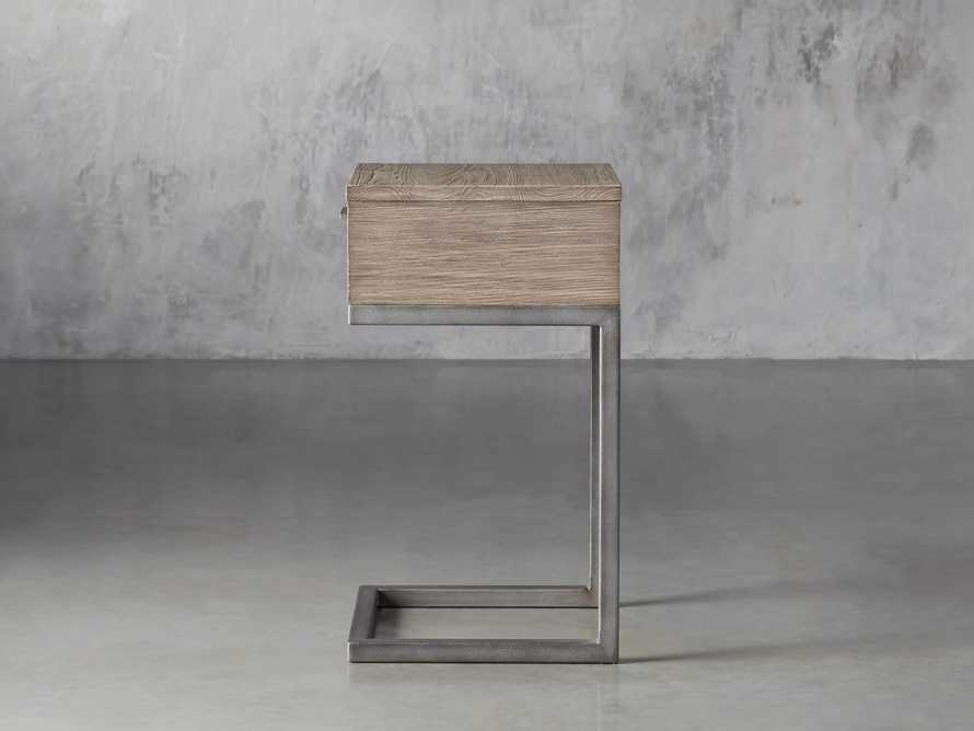Palmer Storage Nightstand in Stone on Ash, slide 5 of 9
