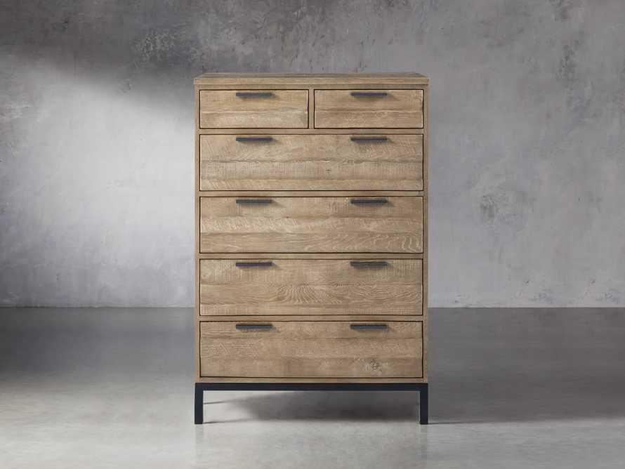 Palmer 2 Over 4 Drawer Dresser In Natural Oak, slide 1 of 6