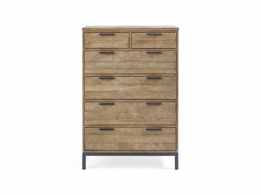 Palmer 2 Over 4 Drawer Dresser In Natural Oak, slide 2 of 6