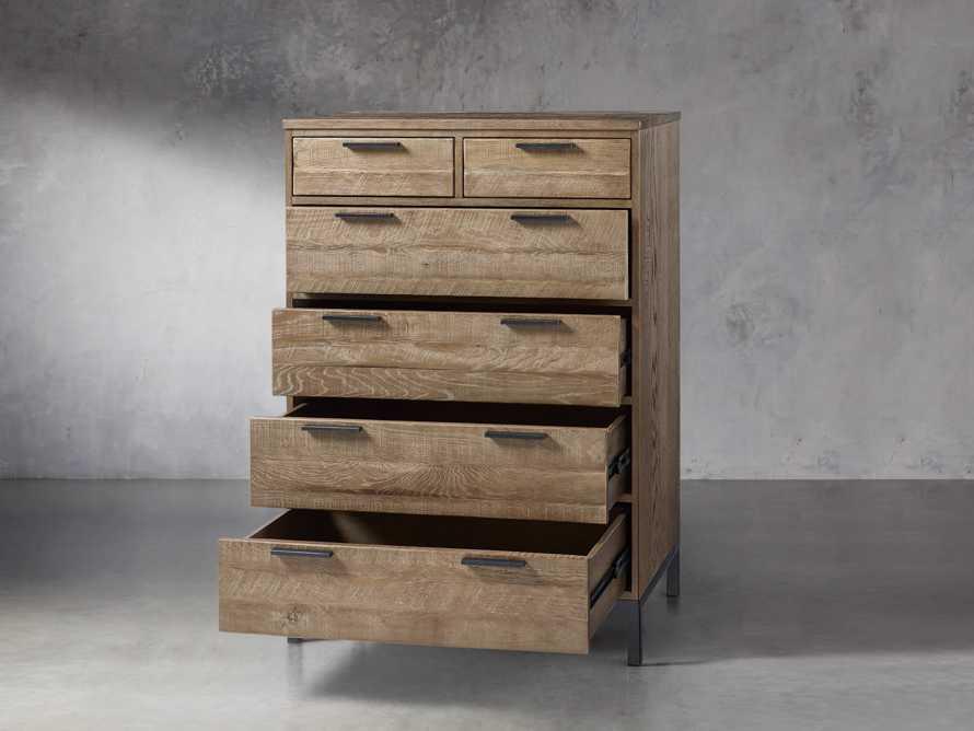 Palmer 2 Over 4 Drawer Dresser In Natural Oak, slide 3 of 6