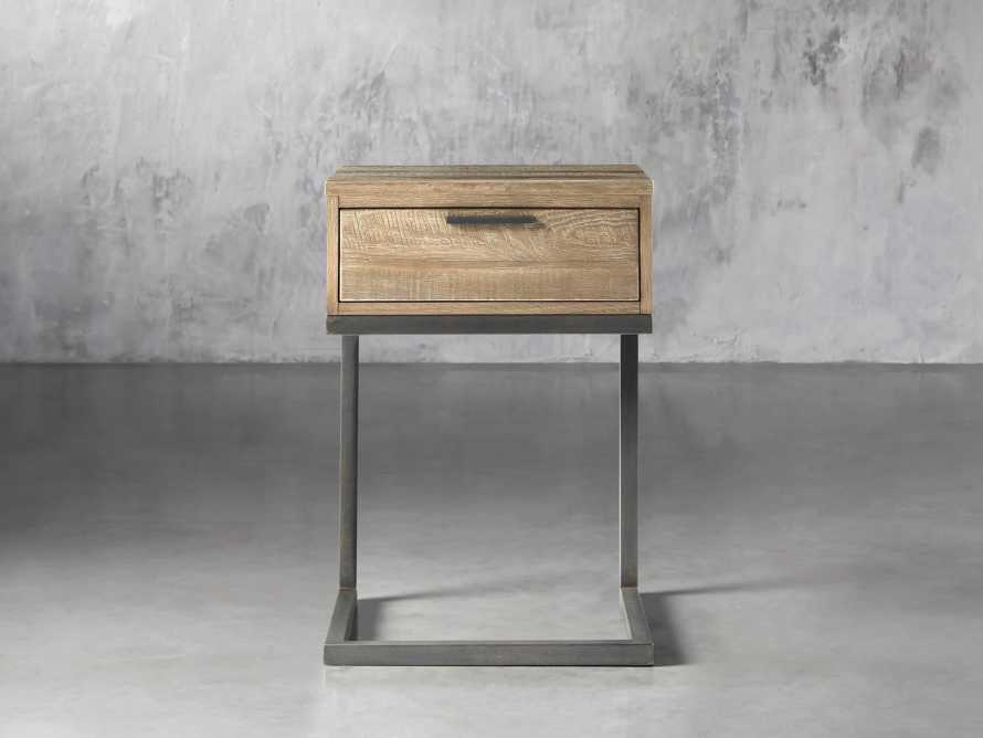 Palmer Storage Nightstand in Natural Oak, slide 1 of 7