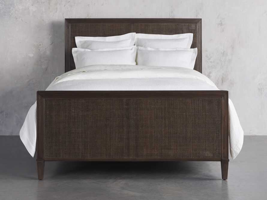 Pearson Queen Cane Bed in Bastian Brown, slide 2 of 6
