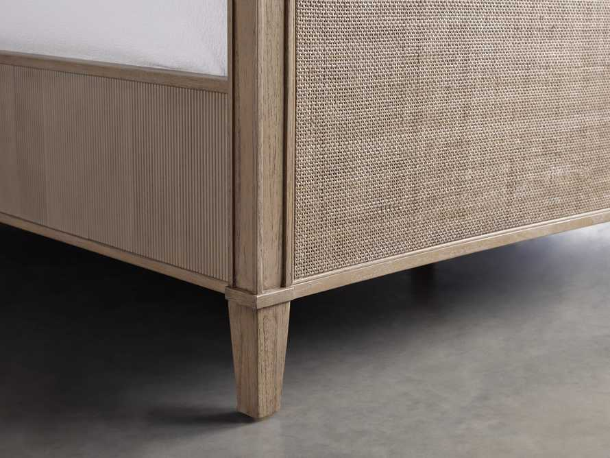 """Pearson 57"""" Gallery Cane Queen Bed in Basa Natural, slide 4 of 5"""