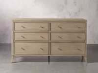 Pearson Six Drawer Wide Dresser in Basa Natural