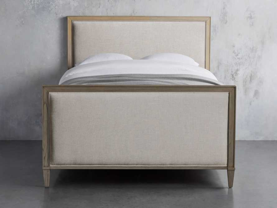 "Pearson Upholstered 57"" King Gallery Storage Bed in Basa Natural, slide 4 of 5"