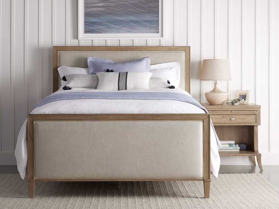 "Pearson Upholstered 57"" King Gallery Storage Bed in Basa Natural, slide 1 of 5"