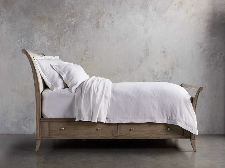 Pearson King Storage Bed in Basa Natural