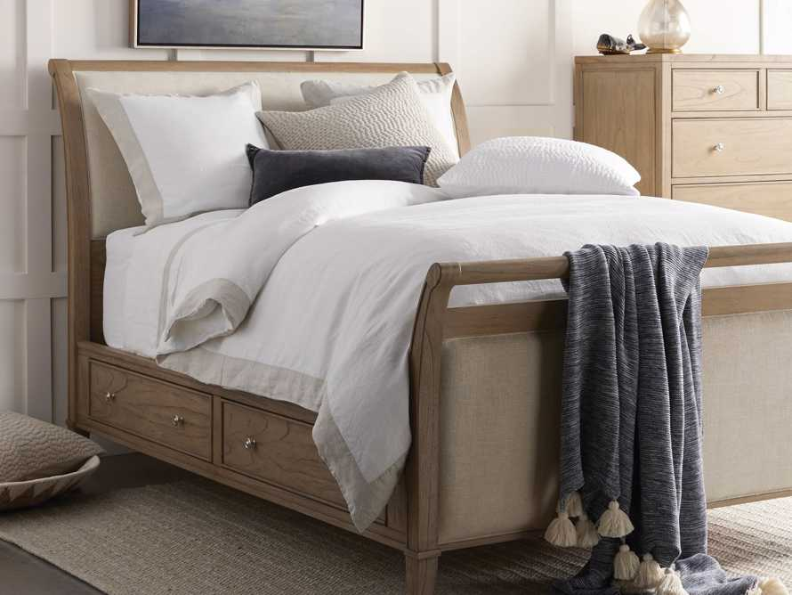 Pearson Queen Storage Bed in Basa Natural, slide 1 of 12