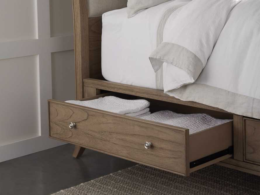 Pearson Queen Storage Bed in Basa Natural, slide 11 of 12