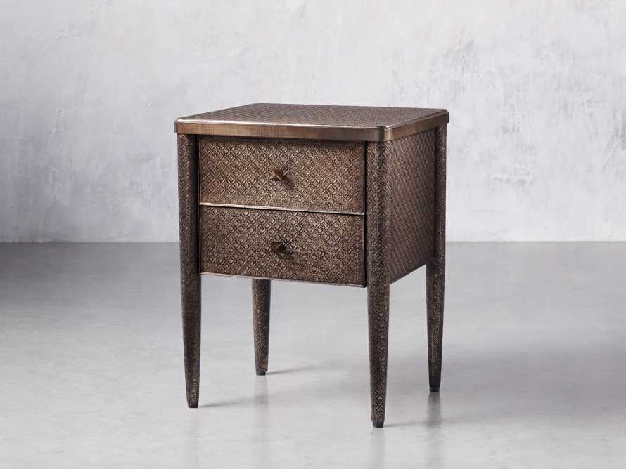 Percy Two Drawer Nightstand in Graphite, slide 3 of 7