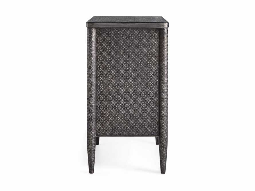 Percy Three Drawer Chest in Antique Nickel, slide 5 of 5