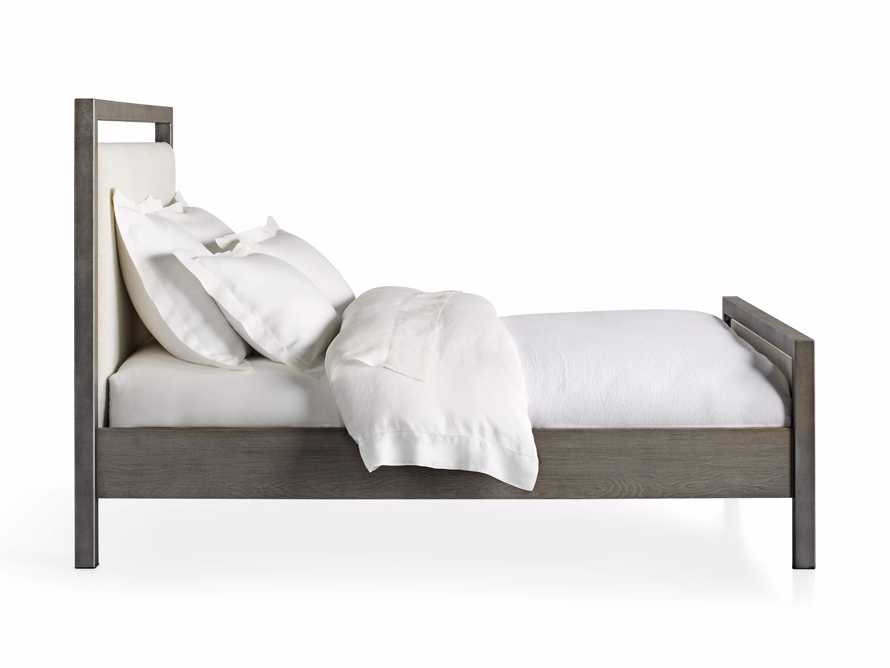 Palmer Queen Upholstered Bed in Tolliver Cream and Pewter, slide 7 of 7
