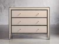 "Reese 42"" Three Drawer Chest in Galleria Blush"