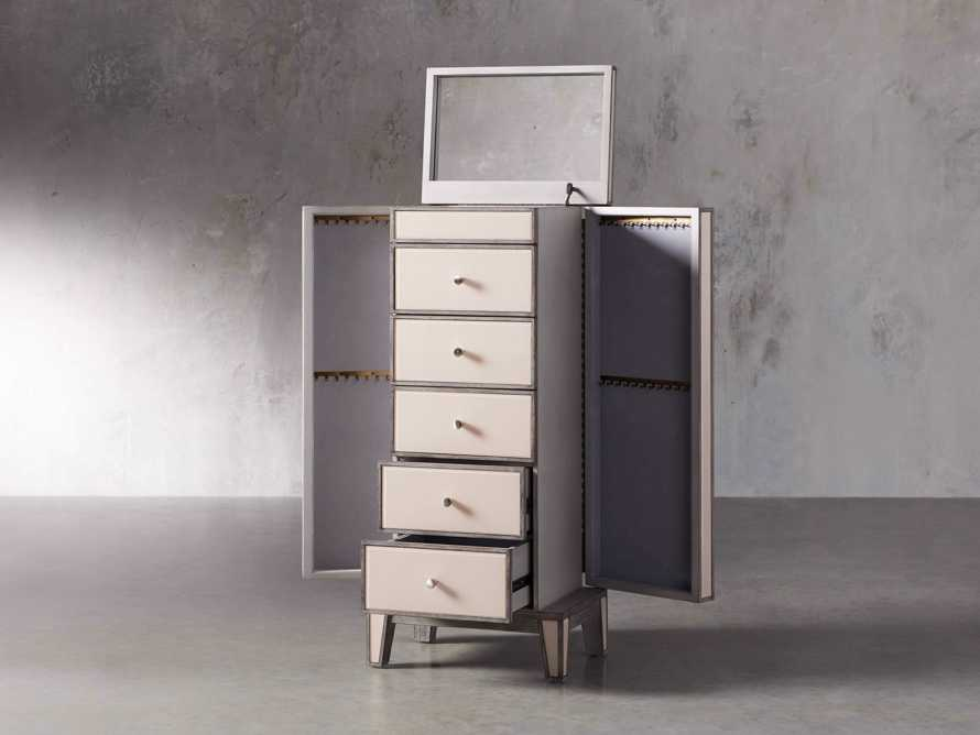 """Reese 20"""" Jewelry Chest in Galleria Blush, slide 3 of 10"""