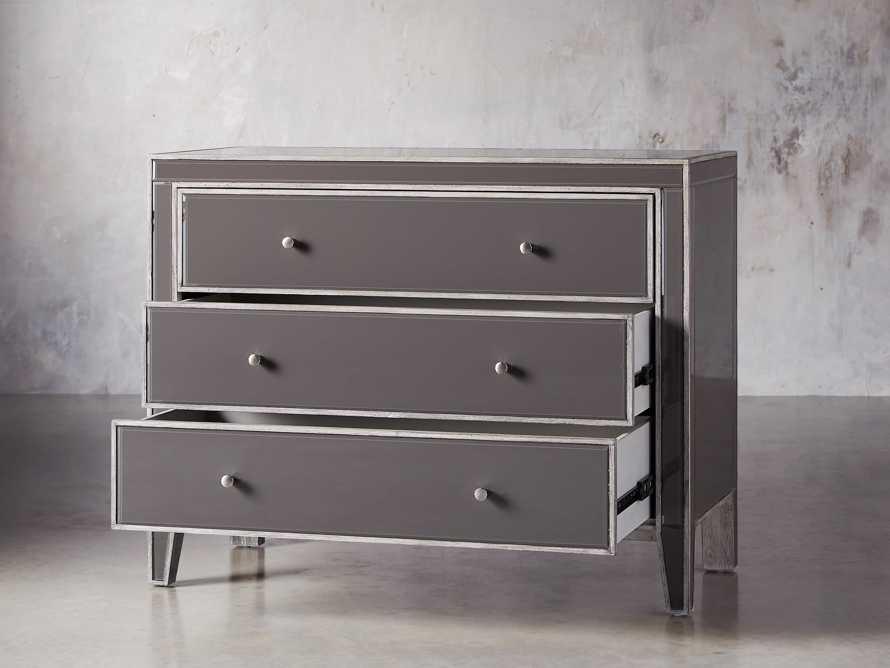 Reese Three Drawer Dresser in Galleria Grey, slide 3 of 7