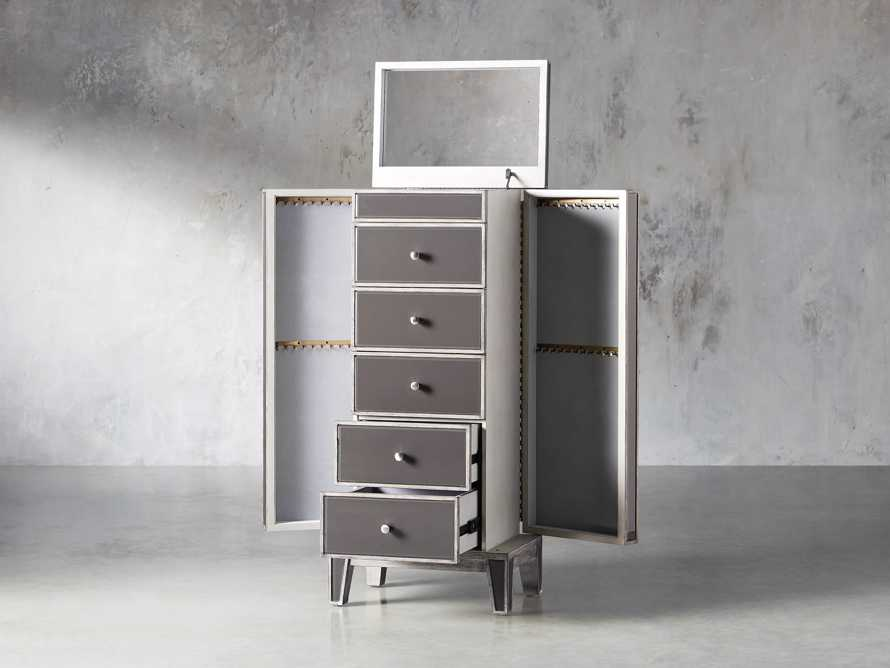 Reese Jewelry Chest in Galleria Grey, slide 3 of 10