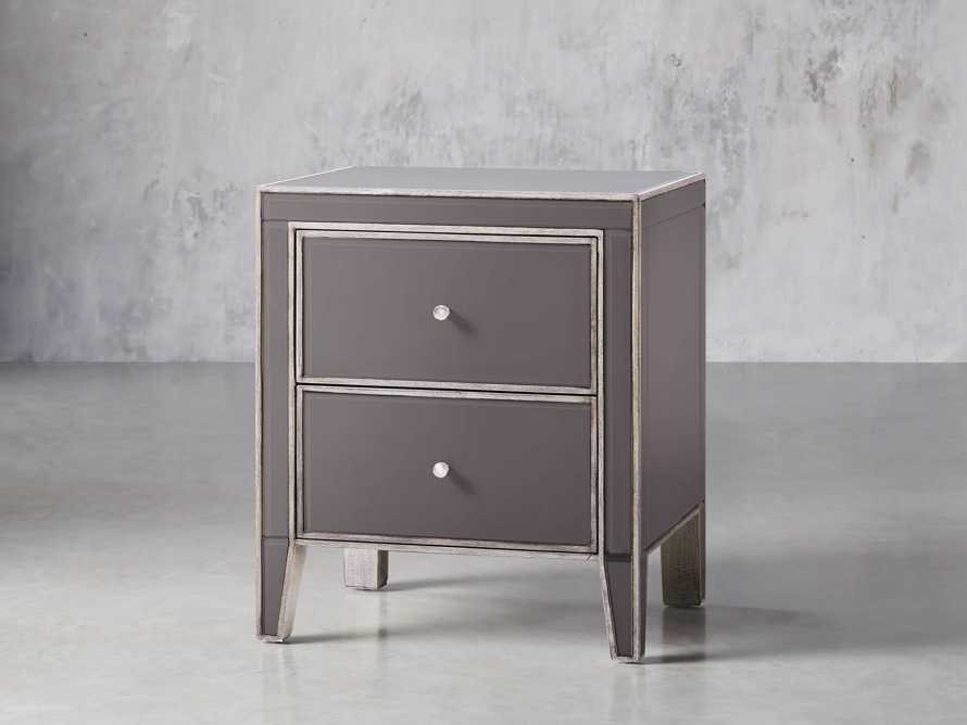Reese Two Drawer Nighstand in Galleria Grey, slide 2 of 8