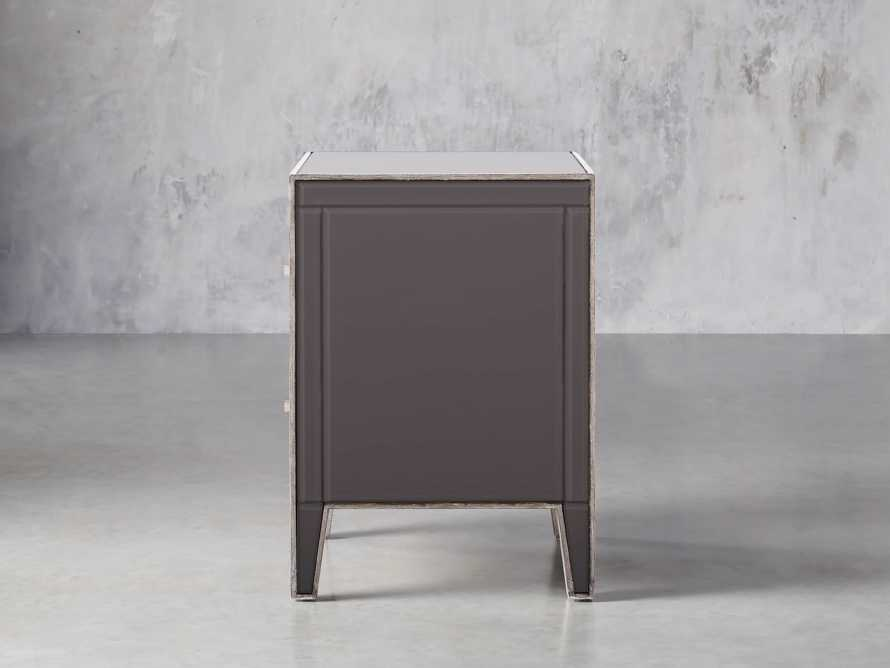 Reese Two Drawer Nighstand in Galleria Grey, slide 4 of 8