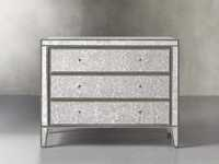 "Reese 42"" 3 Drawer Chest in Antique Mirrored"
