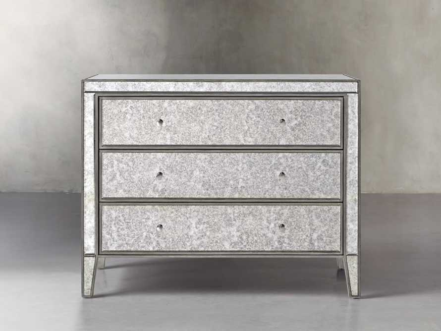 """Reese 42"""" 3 Drawer Chest in Antique Mirrored"""