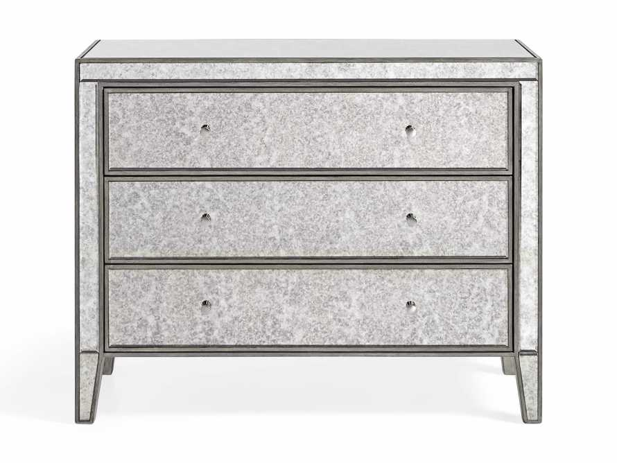 "Reese 42"" 3 Drawer Chest in Antique Mirrored, slide 8 of 9"