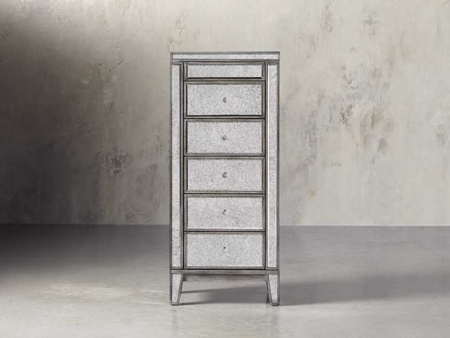 Reese Jewelry Cabinet in Antique Mirrored, slide 1 of 10