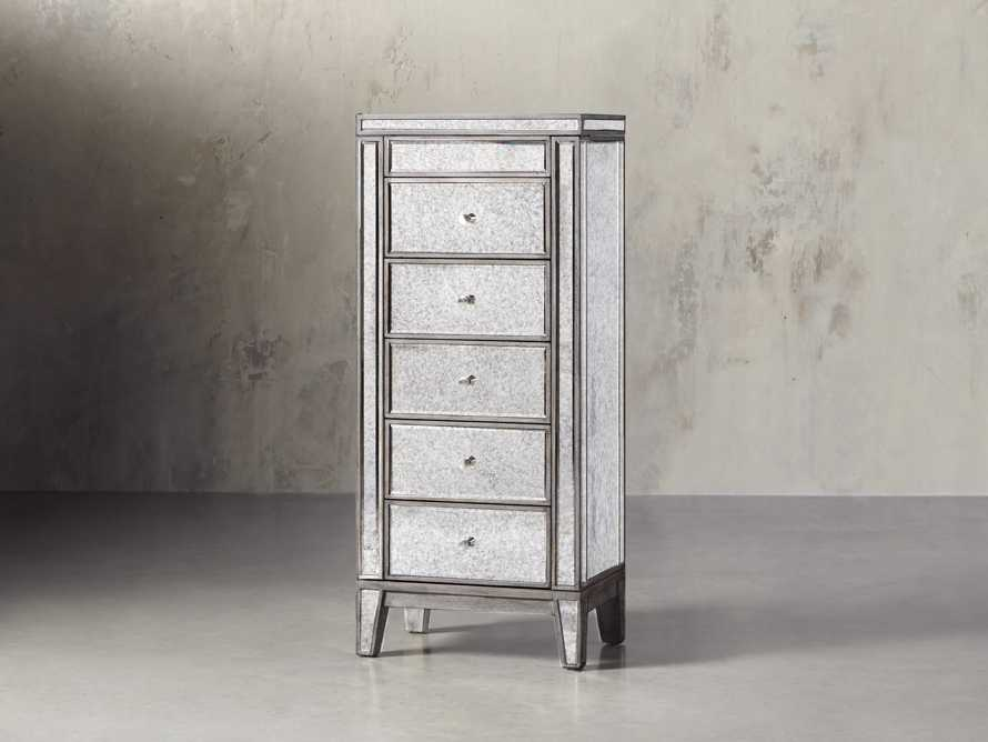 Reese Jewelry Cabinet in Antique Mirrored, slide 2 of 10