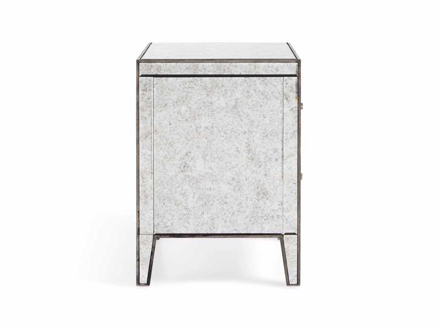 "Reese 24"" Two Drawer Nightstand in Antique Mirrored"