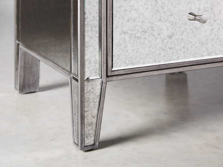 Reese Antique Mirrored Tall Chest, slide 5 of 7