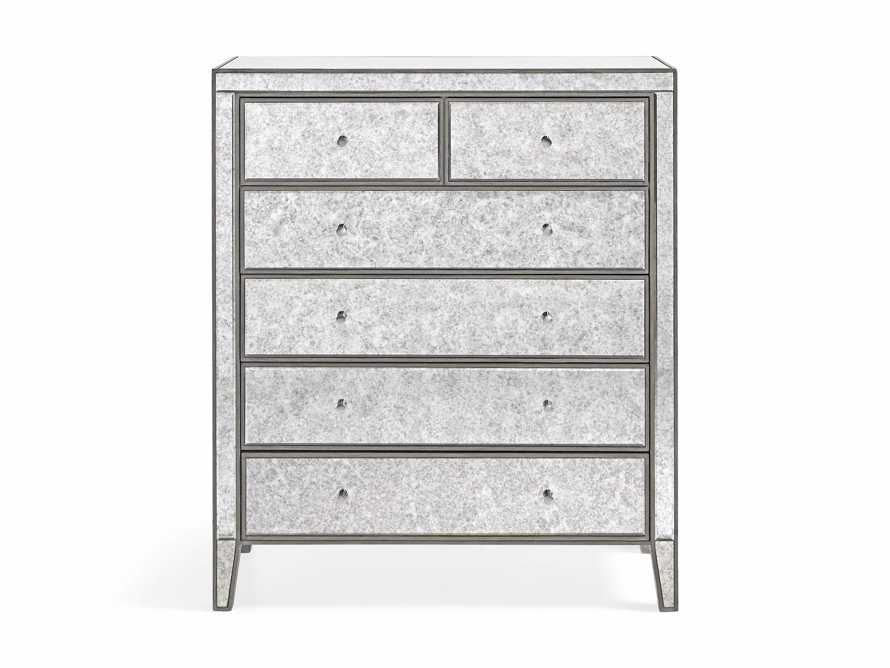 Reese Antique Mirrored Tall Chest, slide 6 of 7