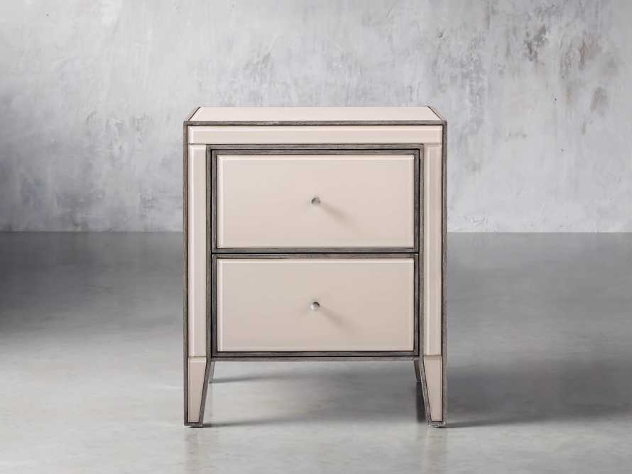 "Reese 24"" 2 Drawer Nightstand in Galleria Blush, slide 1 of 8"