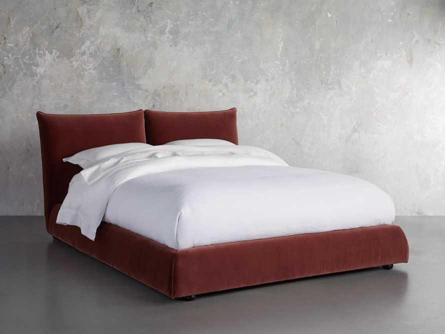 Rigby Queen Bed in Fallkirk Rust, slide 2 of 7