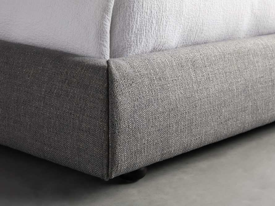 "Rigby Upholstered 40"" King Bed in Prestige Fog, slide 5 of 6"