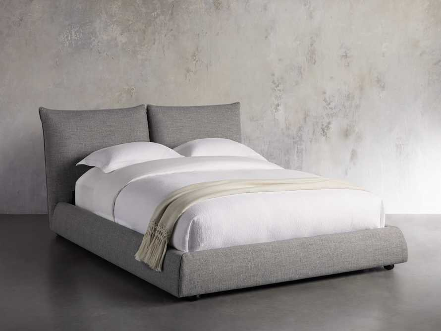 "Rigby Upholstered 40"" Queen Bed in Prestige Fog"
