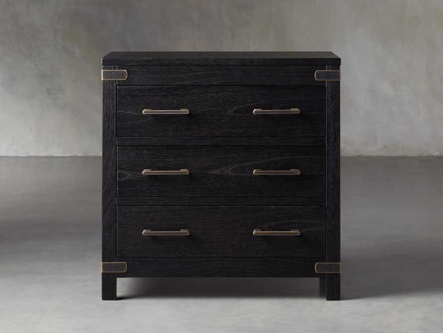 Tremont 3 Drawer Chest in Dry Branch Black, slide 1 of 8