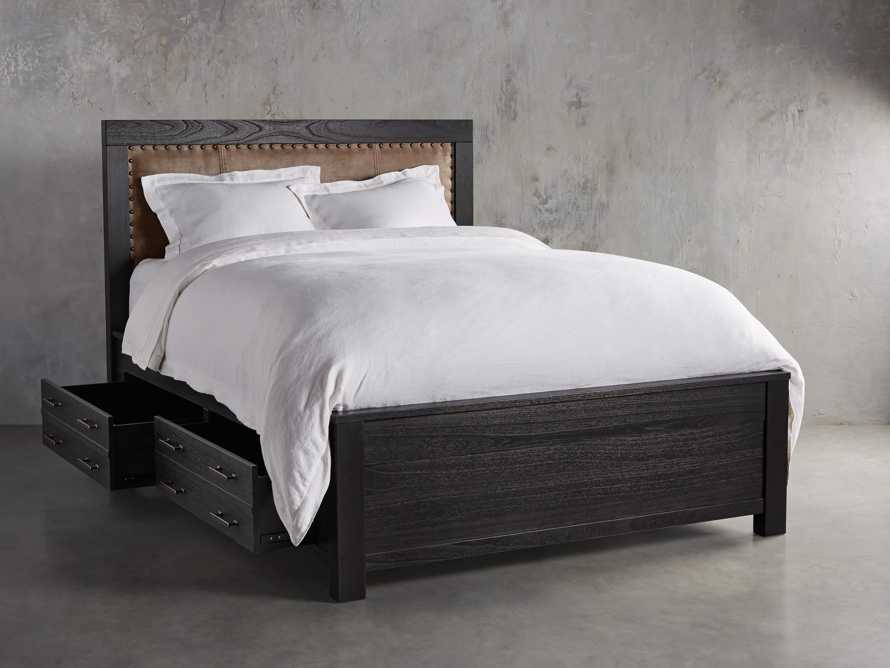 Tremont King Storage Bed in Dry Branch Black