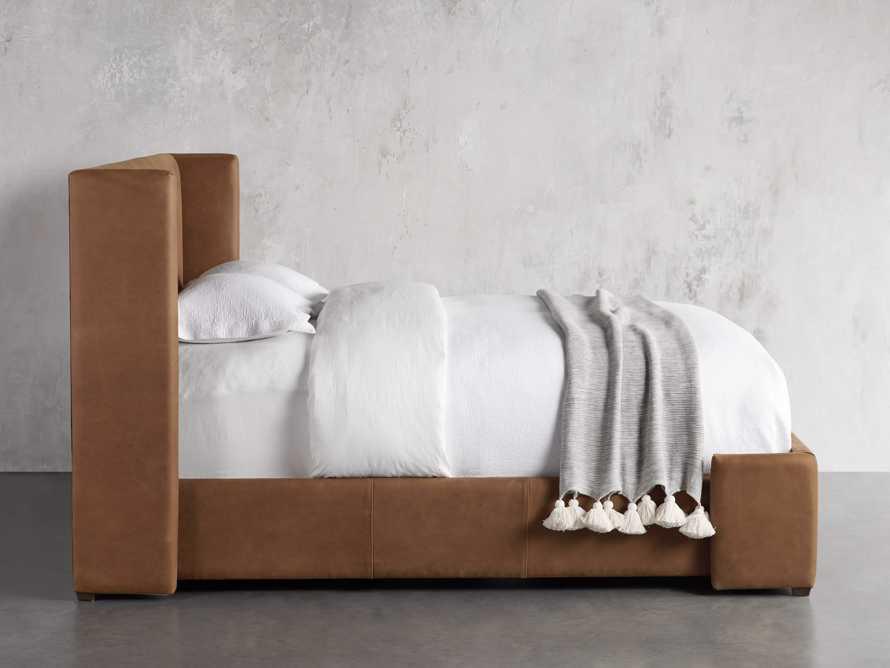 """Wyller Leather 52"""" King Bed in Lukas Pecan, slide 3 of 7"""