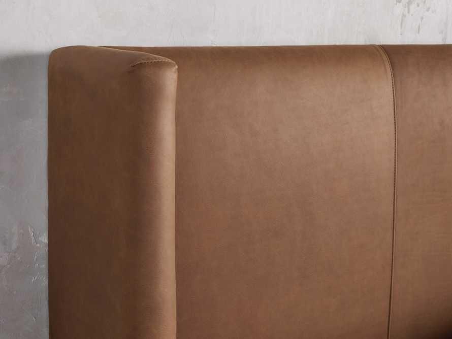 """Wyller Leather 52"""" King Bed in Lukas Pecan, slide 5 of 7"""