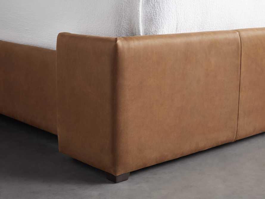 """Wyller Leather 52"""" King Bed in Lukas Pecan, slide 4 of 7"""